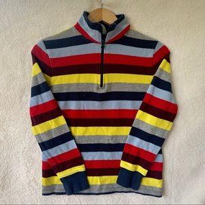 Gap stripe sweater zip up crew neck